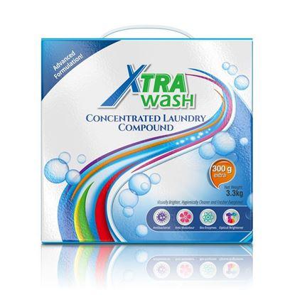 รูปภาพของ Xtra Wash เอ็กซ์ตร้า วอช ผงซักฟอกเข้มข้น  3.3 กก.