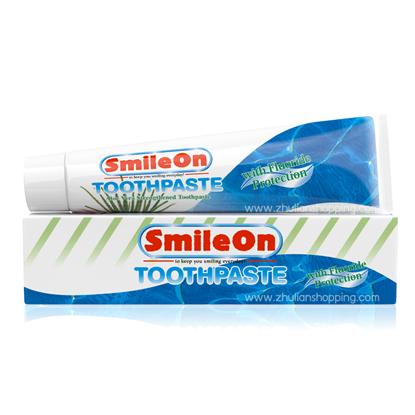 รูปภาพของ SmileOn ยาสีฟันสูตรฟลูออไรด์ และว่านหางจระเข้